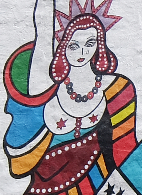 カラフルな自由の女神さまの壁画、空中公園ハイラインに登場中_b0007805_20125147.jpg