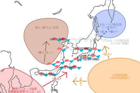 最近の「梅雨」=「線状降雨帯」説:気団の威力が増して怪気団になった!?_a0348309_10145161.png