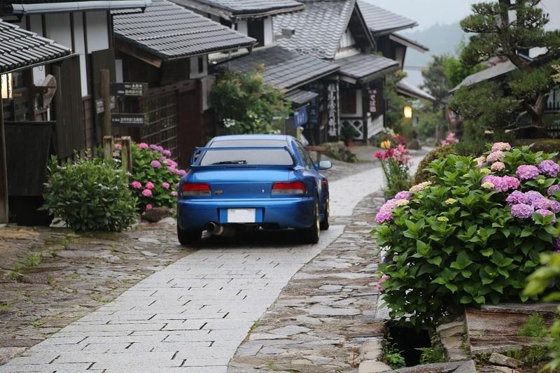 インプレッサWRX STI 20Bと雨の中津川_f0076731_20040493.jpg