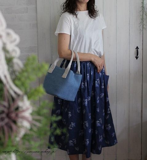 上品な藍色ハーフリネンでよそ行き用夏スカートができました♪_f0023333_22045025.jpg