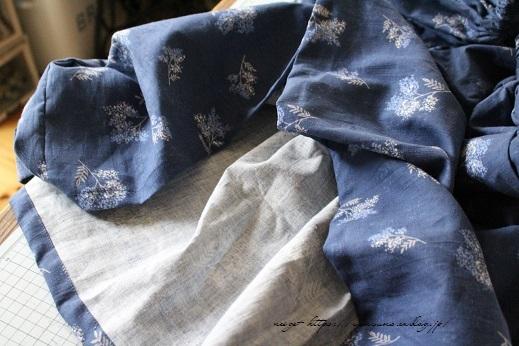 上品な藍色ハーフリネンでよそ行き用夏スカートができました♪_f0023333_22045069.jpg