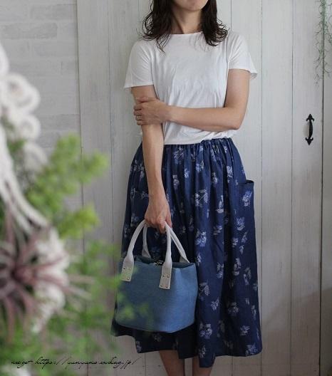 上品な藍色ハーフリネンでよそ行き用夏スカートができました♪_f0023333_22045156.jpg