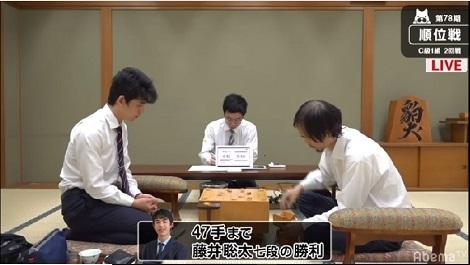 藤井七段あっというに勝利、スカッグス急死、日本ハム連敗ストップ_d0183174_09203936.jpg