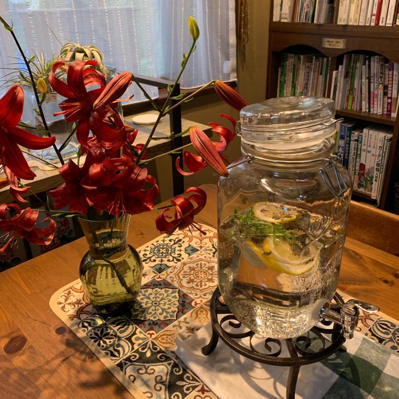 蒸し暑いシーズンの涼しげな花たち、ユリ科_a0139105_16334228.jpg