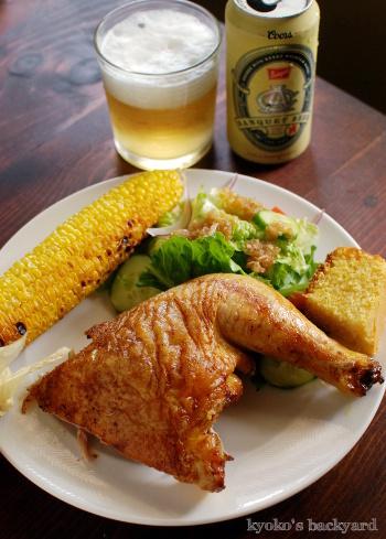 ビール缶チキンが主役のBBQ_b0253205_10071614.jpg