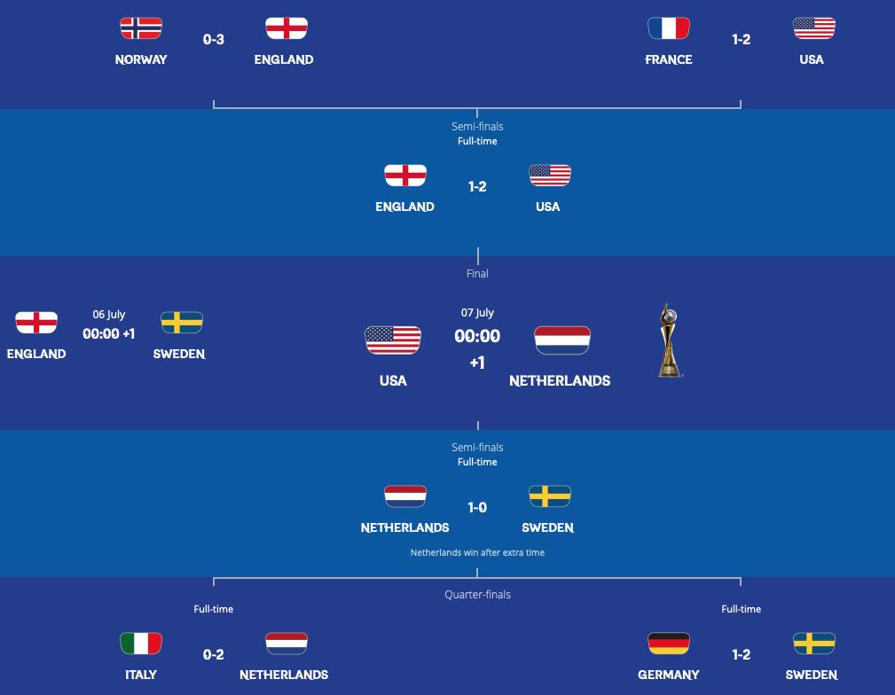 FIFA女子W杯フランス大会準決勝終了:決勝は米蘭の初顔合わせ!?なでしこが勝っていれば!?_a0348309_10234960.png