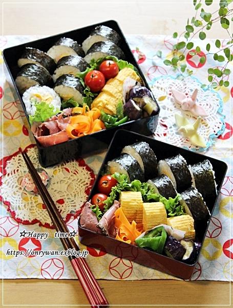 海苔巻き弁当と今夜のおうちごはん♪_f0348032_18474083.jpg