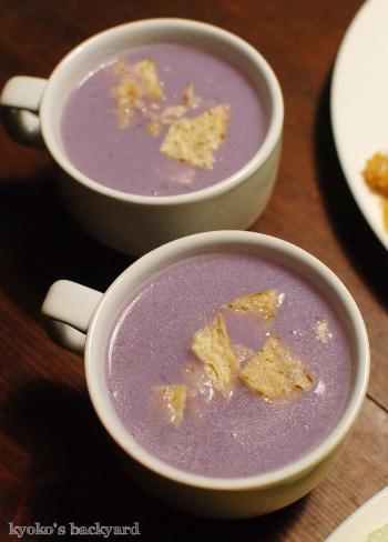 詰めの甘いオムライスと、紫キャベツのポタージュスープ_b0253205_04322325.jpg
