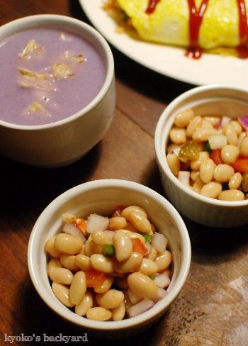 詰めの甘いオムライスと、紫キャベツのポタージュスープ_b0253205_04323303.jpg