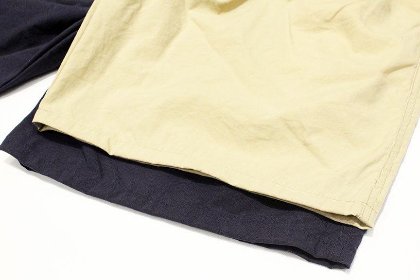 "COMFORTABLE REASON (コンフォータブルリーズン) \"" Pile pocket 2tuck Nylon shorts \"" Exclusive_b0122806_12460799.jpg"
