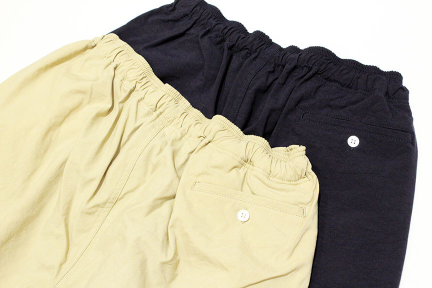 "COMFORTABLE REASON (コンフォータブルリーズン) \"" Pile pocket 2tuck Nylon shorts \"" Exclusive_b0122806_12461389.jpg"