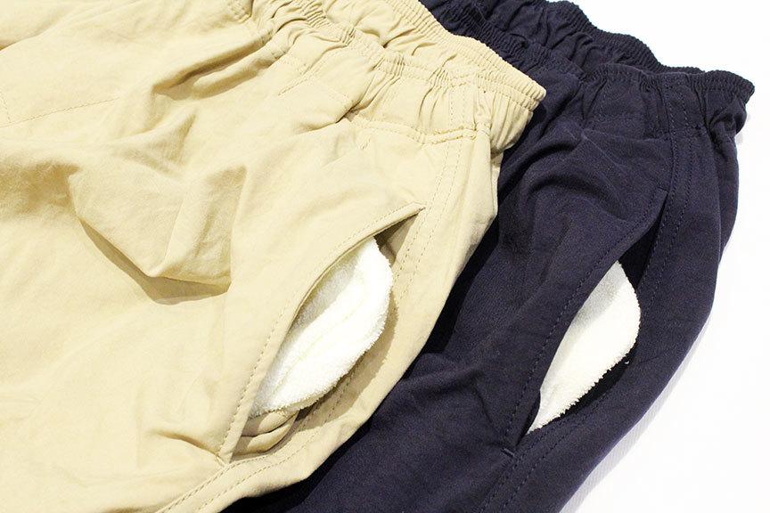 "COMFORTABLE REASON (コンフォータブルリーズン) \"" Pile pocket 2tuck Nylon shorts \"" Exclusive_b0122806_12461778.jpg"
