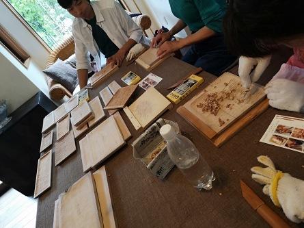 くるみの木のパン皿作りワークショップ_e0187897_22192415.jpg