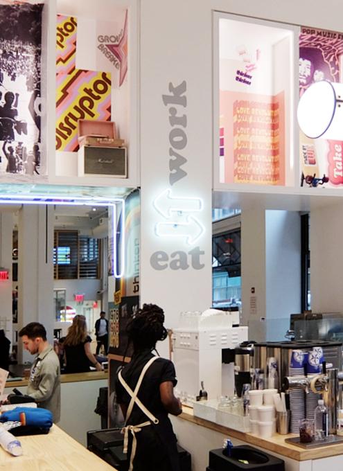 WeWorkによるカフェ、小売店、シェアオフィスが1つになった新しいタイプのお店 Made BY We_b0007805_08130841.jpg