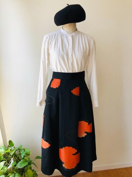 着物リメイク・羽織からからシックなスカート_d0127925_14385615.jpg