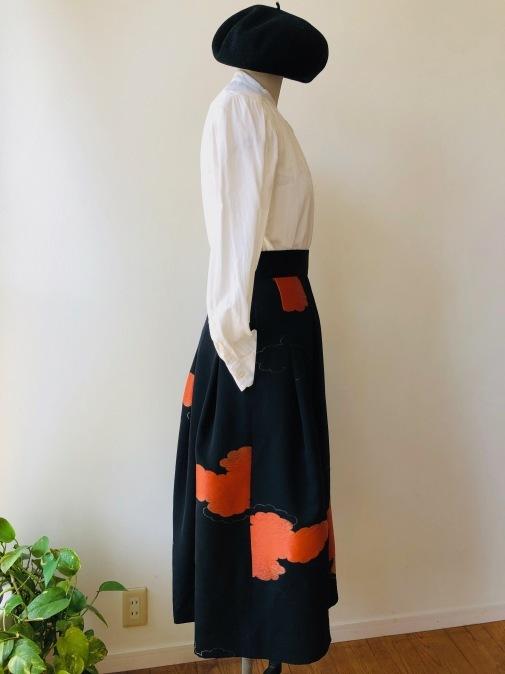 着物リメイク・羽織からからシックなスカート_d0127925_14390186.jpg