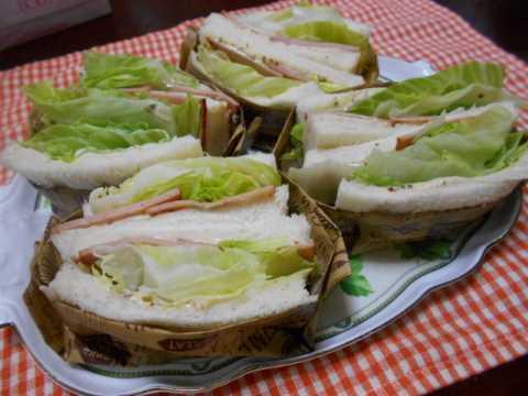 焼き豚とレタスのサンドイッチ&いかめし_f0019498_23222394.jpg