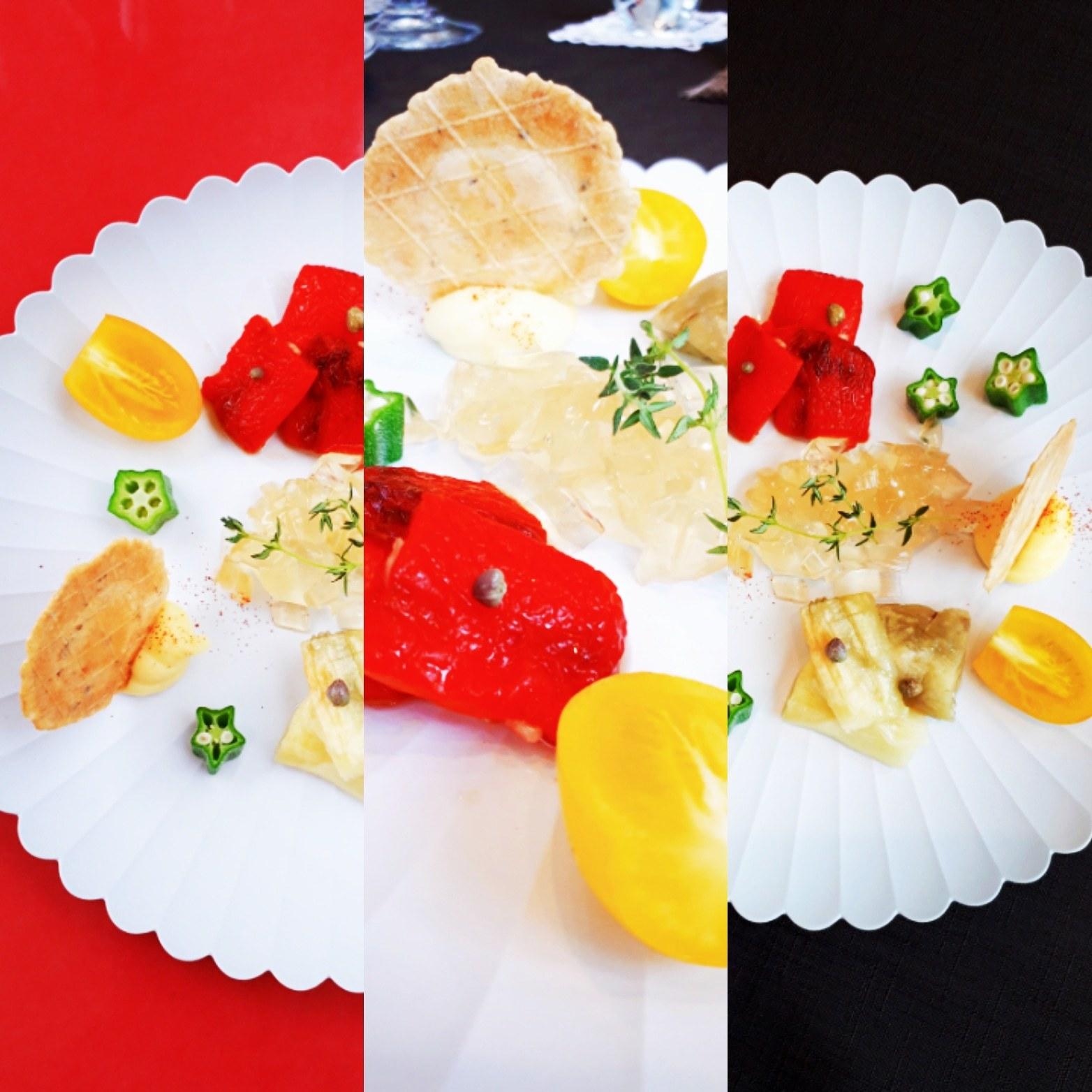 野菜マリネとゼリー添え_f0006899_18522687.jpg