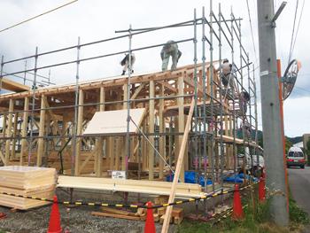 松本市 筑摩の住宅 建て方_e0180332_10121971.jpg