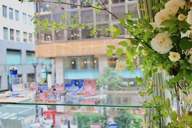 窓際に装飾させていただいています✨ノリタケ・大倉陶園・銀座本店にて_c0128489_10364746.jpg