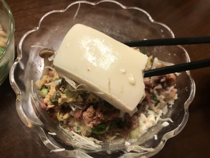 火曜の晩ごはん☆牛丼ライト風と豆のサラダ_c0212604_184317100.jpg