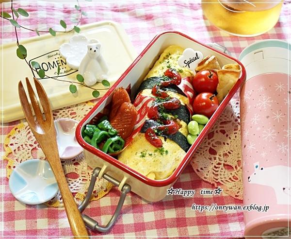 薄焼き卵が破れちゃった時のオムライス弁当とパン焼き♪_f0348032_17341873.jpg