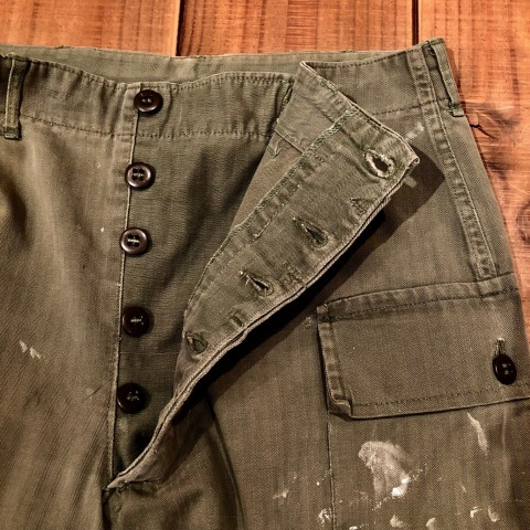 "1940s "" U.S ARMY \"" ALL cotton - M 43 H.B.T - VINTAGE CARGO PANTS ._d0172088_23403723.jpg"