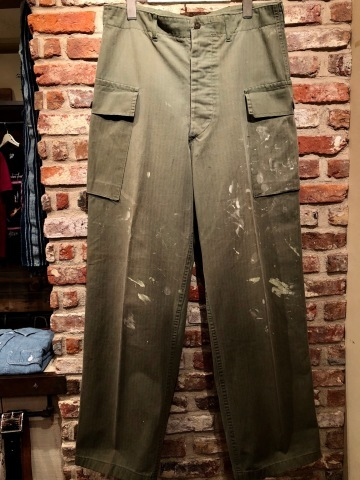 "1940s "" U.S ARMY \"" ALL cotton - M 43 H.B.T - VINTAGE CARGO PANTS ._d0172088_23504870.jpg"