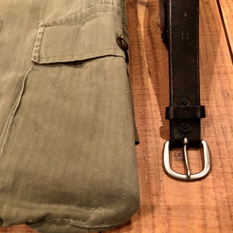 "1940s "" U.S ARMY \"" ALL cotton - M 43 H.B.T - VINTAGE CARGO PANTS ._d0172088_23574255.jpg"