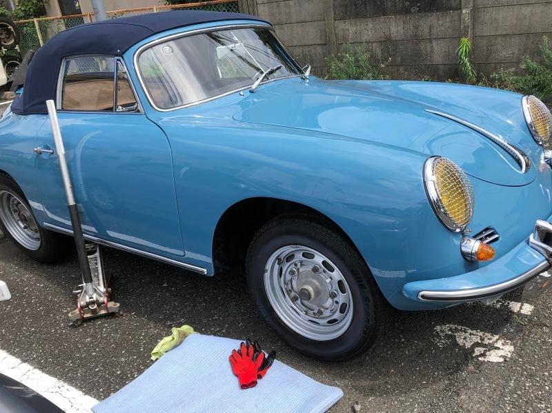 1960PORSCHE 356-B SUPER 90      /   ポルシェ356  ホイール・タイヤ交換_b0195093_09462788.jpg