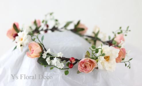 白とピンクベージュの花冠_b0113510_13022884.jpg