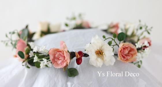 白とピンクベージュの花冠_b0113510_13023794.jpg