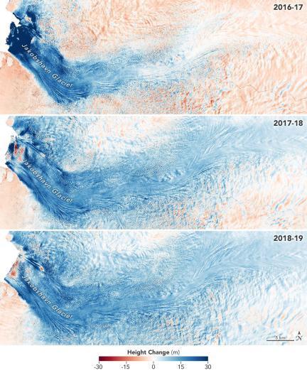 グリーンランドの成長するジャコブシャブン氷河_d0063814_11230253.jpg