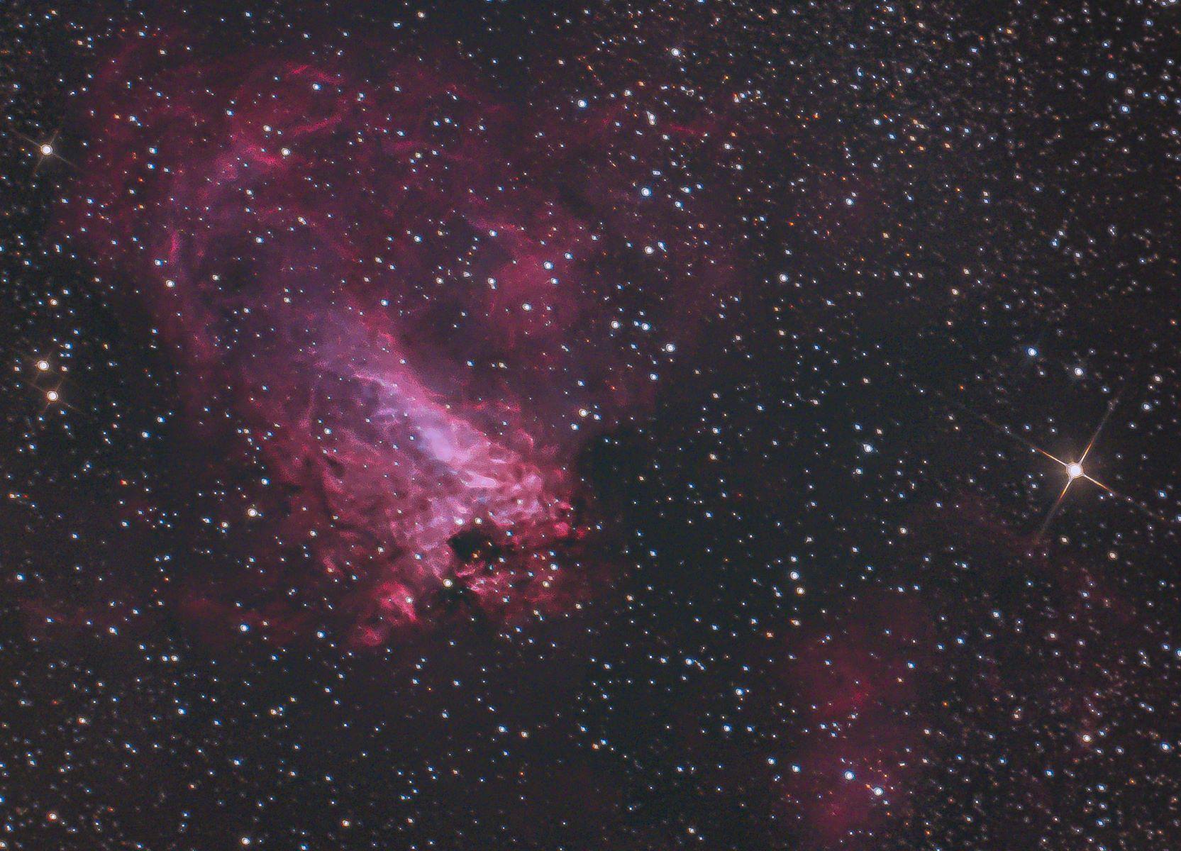 色々コンポジットのオメガ星雲(再)・・・_b0100253_00294541.jpg