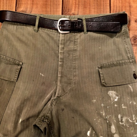 "1940s "" U.S ARMY \"" ALL cotton - M 43 H.B.T - VINTAGE CARGO PANTS ._d0172088_00120137.jpg"