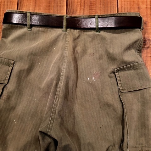 "1940s "" U.S ARMY \"" ALL cotton - M 43 H.B.T - VINTAGE CARGO PANTS ._d0172088_00122128.jpg"