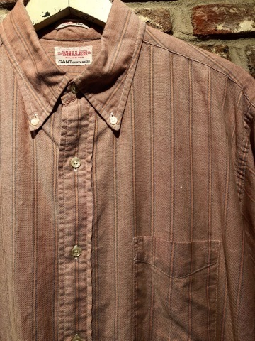 "1960-70s "" GANT -SHIRT MAKERS- \"" ALL cotton - OXFD - 三つ留め VINTAGE B/D SHIRTS ※ 明日より 営業再開致します !_d0172088_18494837.jpg"
