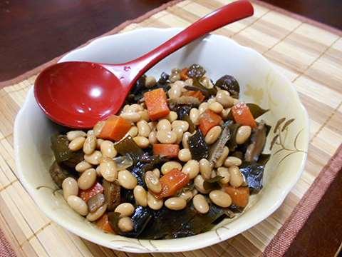 蒸し大豆で五目豆を作る_f0019498_19200909.jpg