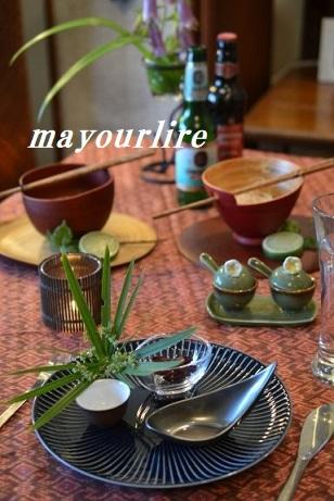 5月 マユールライラ テーブルコーディネート&フラワー教室 テーブル編_d0169179_18521442.jpg