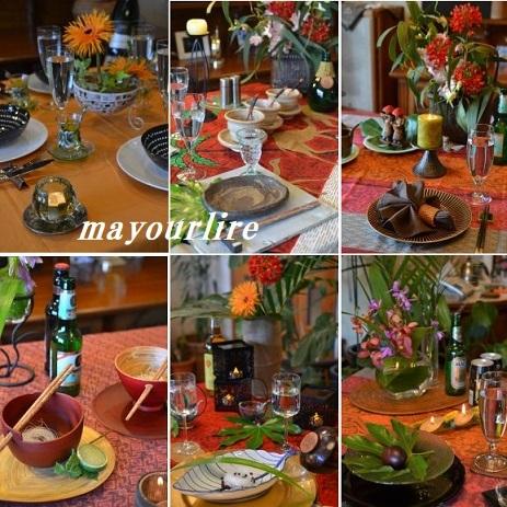 5月 マユールライラ テーブルコーディネート&フラワー教室 テーブル編_d0169179_18544285.jpg
