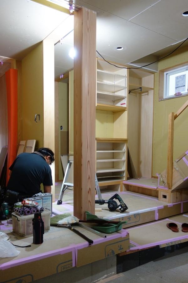 「荒川の家Ⅲ」塗装工事終盤_b0142417_12410858.jpg