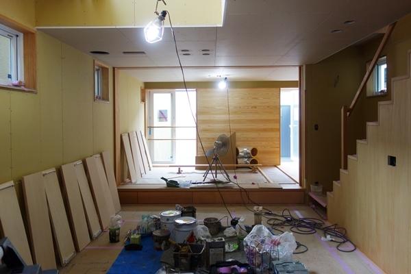 「荒川の家Ⅲ」塗装工事終盤_b0142417_12445000.jpg