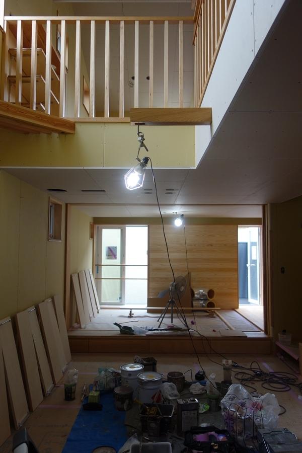 「荒川の家Ⅲ」塗装工事終盤_b0142417_12445627.jpg