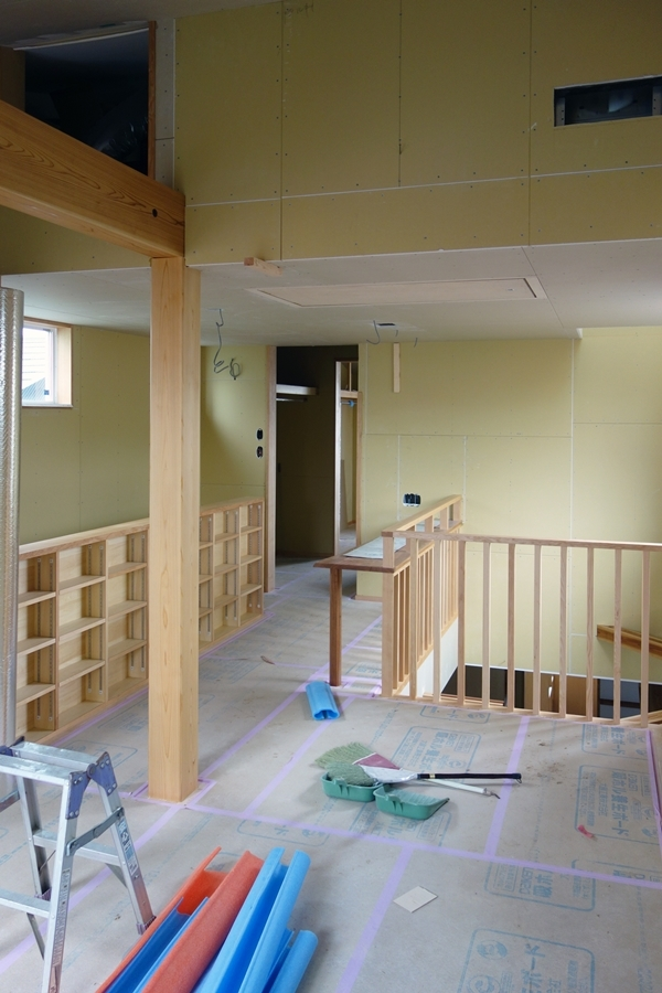 「荒川の家Ⅲ」塗装工事終盤_b0142417_12463799.jpg
