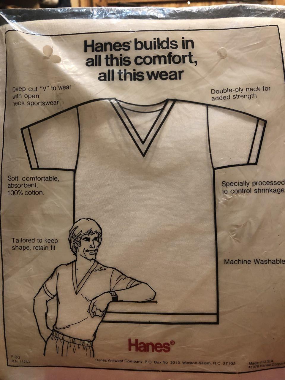 7月13日(土)入荷!明日はプチ デッドストック祭り!70s HANES Vネック3PVネックTシャツ!_c0144020_14263329.jpg