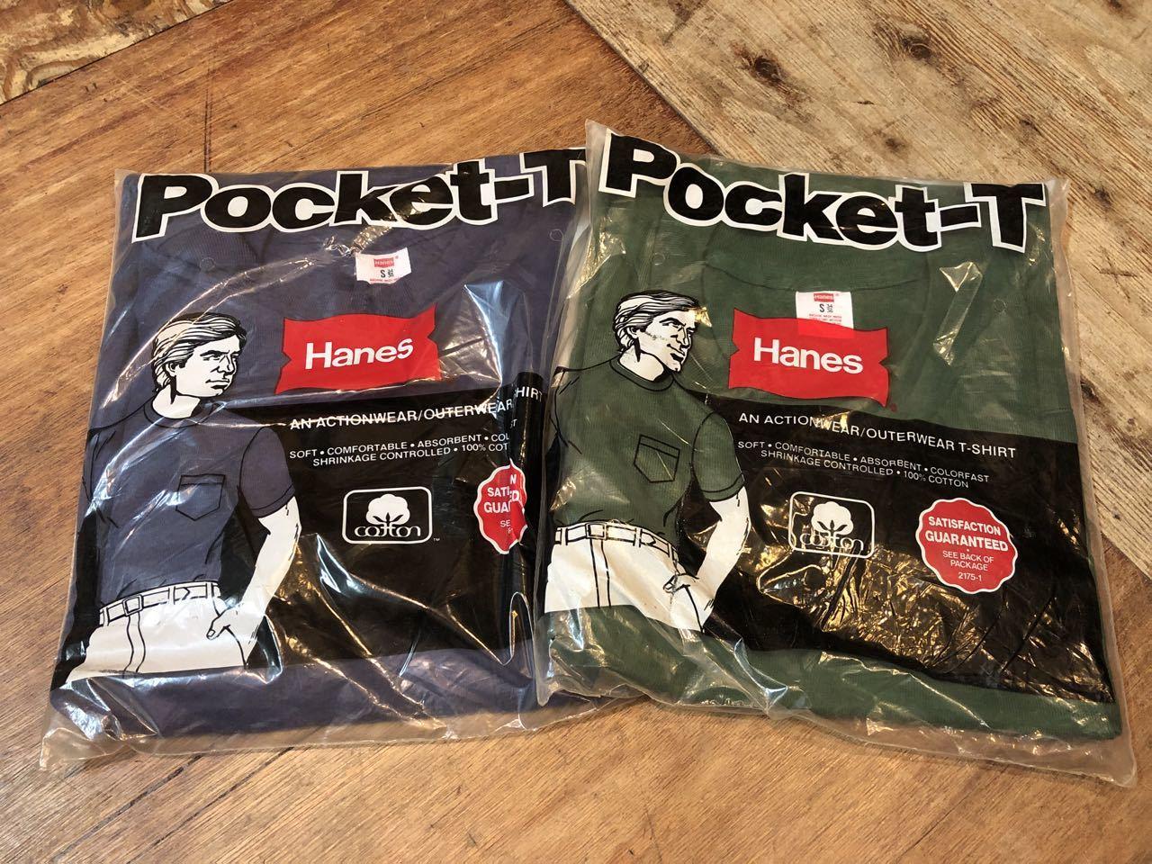 7月13日(土)入荷!明日はプチ デッドストック祭り!80s HANES MADE IN U.S.A ポケットTシャツ!_c0144020_15013435.jpg
