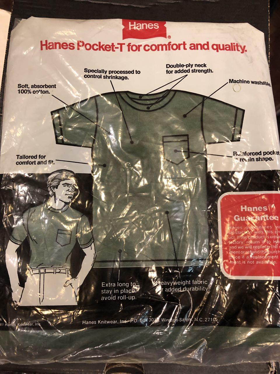 7月13日(土)入荷!明日はプチ デッドストック祭り!80s HANES MADE IN U.S.A ポケットTシャツ!_c0144020_15014966.jpg