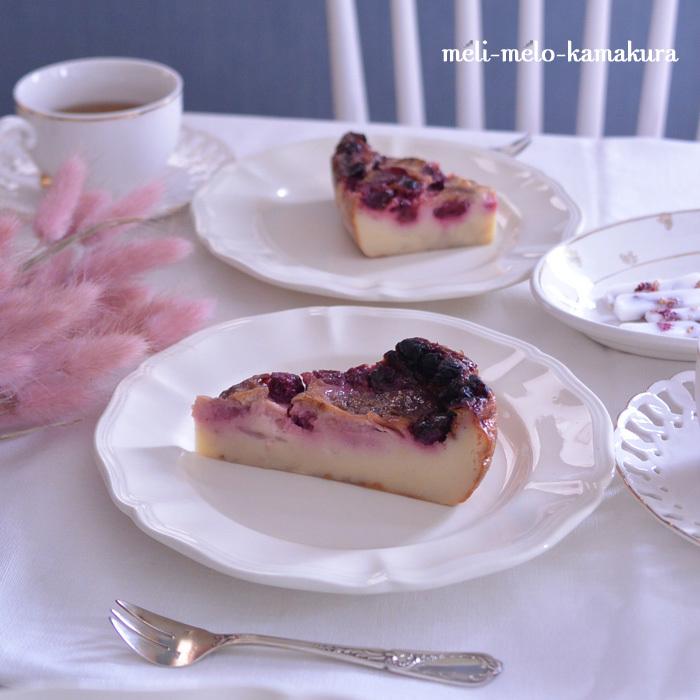 ◆フランスアンティーク*サルグミンヌの花リムプレートでティータイム♪_f0251032_11300903.jpg
