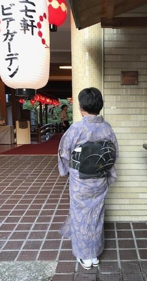 ビアガーデン・竺仙浴衣に蛍帯・刺繍麻帯前太鼓コーデ。_f0181251_13411670.jpg