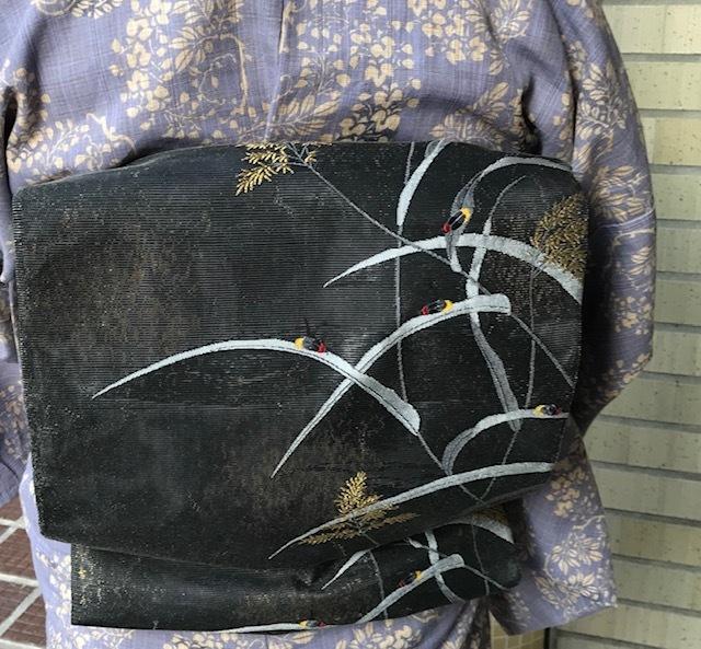 ビアガーデン・竺仙浴衣に蛍帯・刺繍麻帯前太鼓コーデ。_f0181251_13415784.jpg